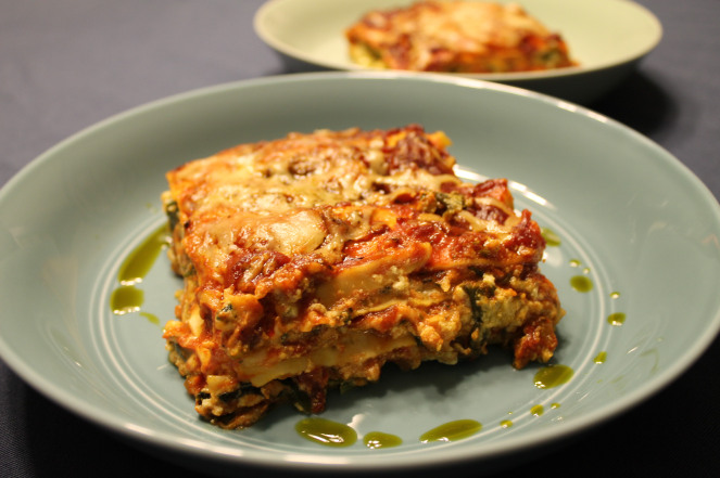 Lasagna with Pesto and Greens | Pumpkin&Pesto